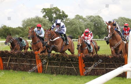 Stock Picture of Oh So Gigolo ridden by Alan Doyle (C) during the 2.00 The bet365 Maiden Hurdle Race