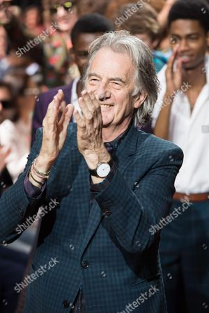 Sir Paul Smith on the catwalk