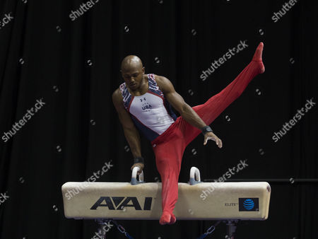 John Orozco competes on the second day of the U.S. Olympic Team Trials for men's gymnastics in St. Louis.