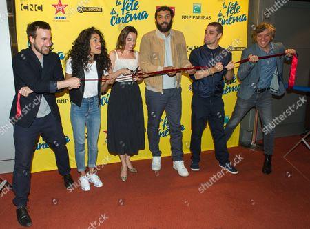 Gregoire Leprince-Ringuet, Sabrina Ouazani, Elodie Bouchez, Ramzy Bedia, Arthur Dupont and Pascal Demolon