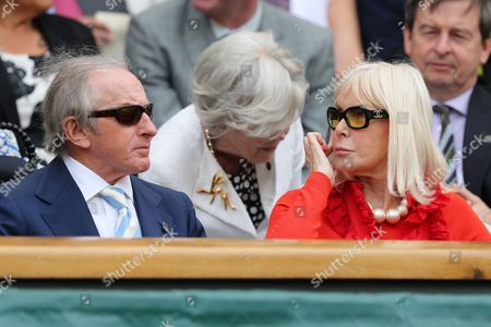 Sir Jackie and Lady Helen Stewart enjoying the tennis during day one of the 2016 Wimbledon Championships at the All England Lawn Tennis Club, Wimbledon, London on the 27th June 2016