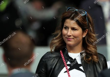 Stock Image of Miroslava Federer arrives to watch husband Roger Federer during day one of the 2016 Wimbledon Championships at the All England Lawn Tennis Club, Wimbledon, London on the 27th June 2016