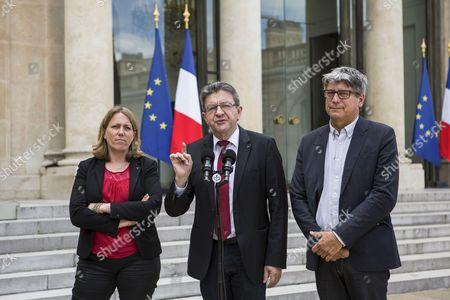 Eric Coquerel, Jean-Luc Melenchon, Danielle Simonnet