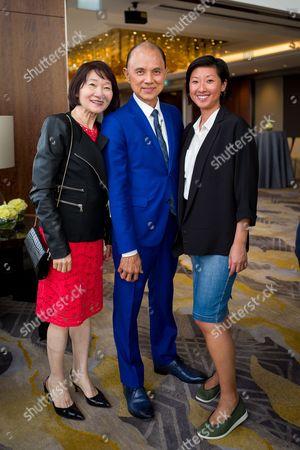 Rebecca Choo, Jimmy Choo and Beatrix Ong