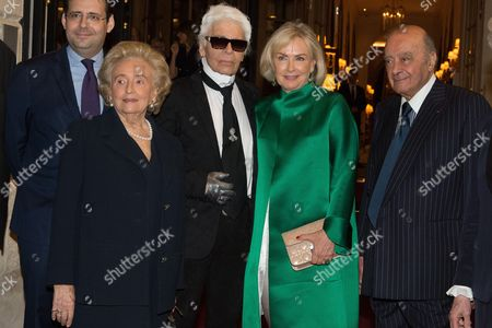 Matthias Fekl, Bernadette Chirac, Karl Lagerfeld and Mohammed Al Fayed