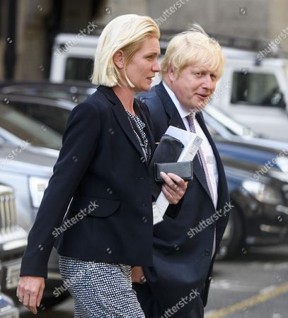 Amanda Milling and Boris Johnson