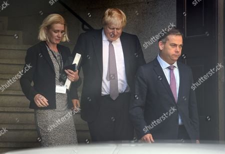 Stock Image of Amanda Milling, Boris Johnson, Nigel Adams
