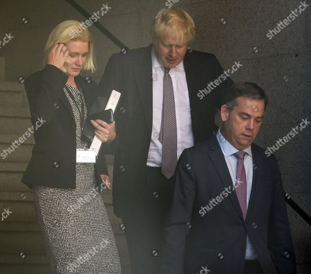 Stock Picture of Amanda Milling, Boris Johnson, Nigel Adams