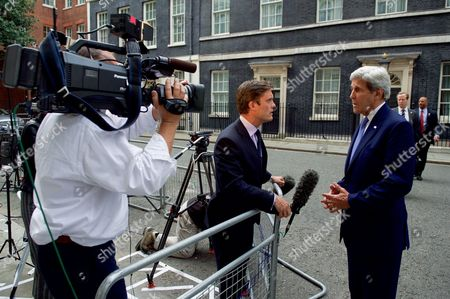 John Kerry Speaks to Keir Simmons of NBC News After Meeting With UK Prime Minister Cameron at No. 10 Downing Street in London