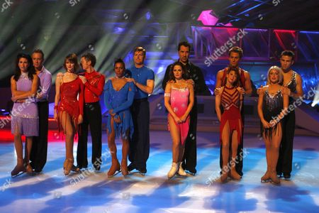 Gaynor Faye and Daniel Whiston, Marika Humpherys and Sean Wilson, Kelly Holmes and Todd Sand, Pam O' Connor and David Seaman, Bonnie Langford and Matt Evers with Kristina Cousins and Stefan Booth