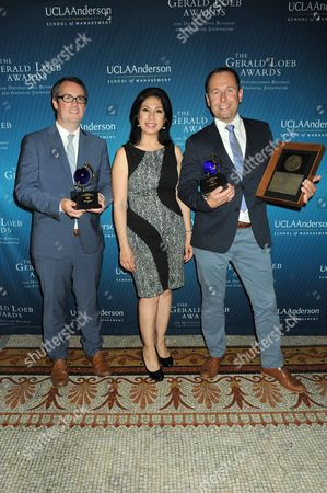 """Stock Picture of Alexis Christoforous with """"Audio"""" Award winners, NPR"""