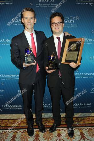 Award winners Tom Wright, Bradley Hope