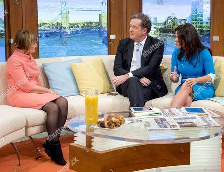 Tessa Jowell with Piers Morgan and Susanna Reid