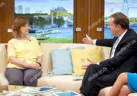 Sharon Shoesmith with Piers Morgan