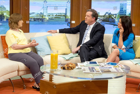 Stock Picture of Sharon Shoesmith with Piers Morgan and Susanna Reid