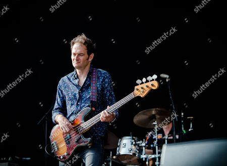 Stock Picture of Bass player John Stirratt of Wilco