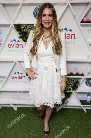 Stock Picture of Becky Sheeran in the evian Live Young suite, at Wimbledon 2016 #wimblewatch