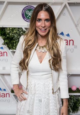 Stock Image of Becky Sheeran in the evian Live Young suite, at Wimbledon 2016 #wimblewatch
