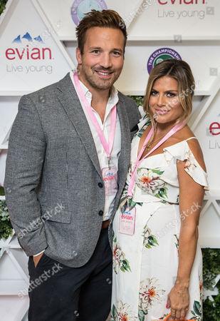 Stock Photo of Paul Doran-Jones and Zoe Hardman in the evian Live Young suite, at Wimbledon 2016 #wimblewatch
