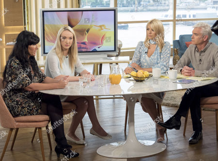 Stock Image of Emiliana Silvestri and Leah Totton with Phillip Schofield and Holly Willoughby