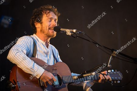 Stock Picture of Irish singer, musician and songwriter Damien Rice performs