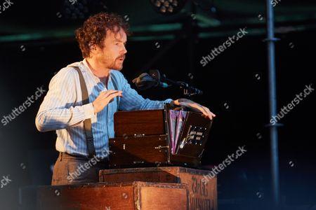 Irish singer, musician and songwriter Damien Rice performs