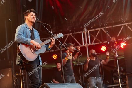 The British singer and songwriter Jamie Woon performs a live concert