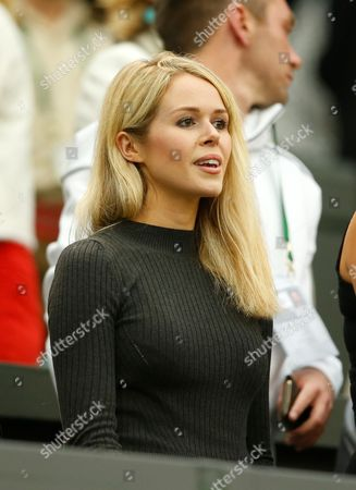 Marcus Willis girlfriend Jennifer Bate looks on during day three of the 2016 Wimbledon Championships at the All England Lawn Tennis Club, Wimbledon, London on the 29th June 2016
