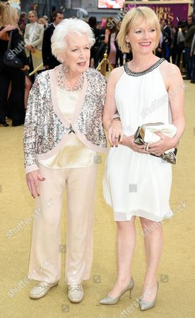 Stock Picture of June Whitfield and daughter Suzy Aitchison