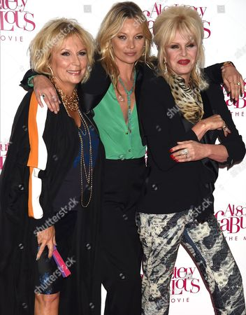 Jennifer Saunders, Kate Moss and Joanna Lumley