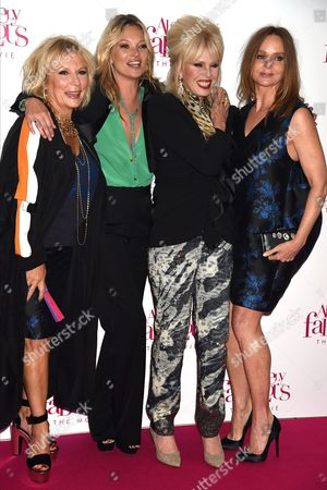 Jennifer Saunders, Kate Moss, Joanna Lumley and Stella McCartney
