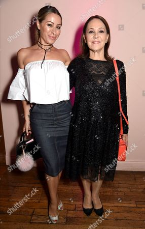 Stock Picture of Arlene Phillips (R) and daughter Alana Phillips
