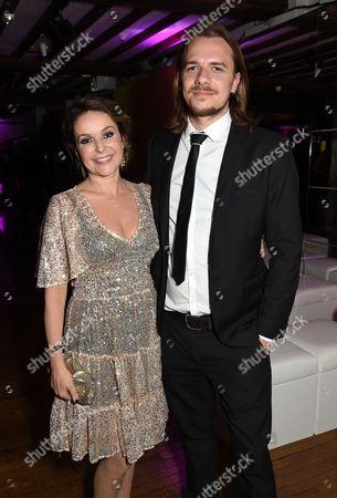Stock Photo of Julia Sawalha and Luke Hollingworth