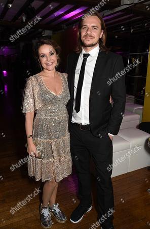 Stock Image of Julia Sawalha and Luke Hollingworth
