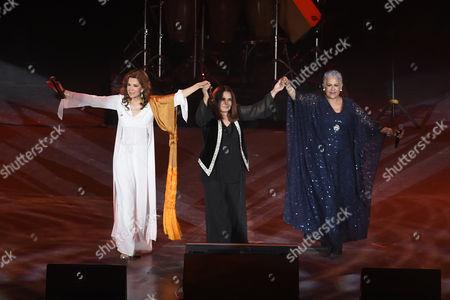 Guadalupe Pineda, Tania Libertad and Eugenia Leon