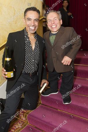 David Bedella (Lex) and Warwick Davis (Evil Lord Hector/Producer)