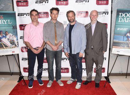 Connor Schell, Michael Bonfiglio, Judd Apatow, and John Dahl