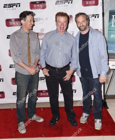 Michael Bonfiglio, Robert Wuhl, and Judd Apatow