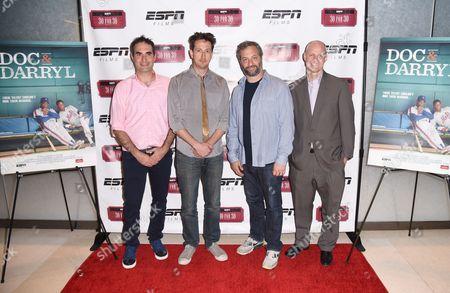 Stock Photo of Connor Schell, Michael Bonfiglio, Judd Apatow, and John Dahl