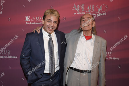 Cristian Castro and his parent Manuel Valdez