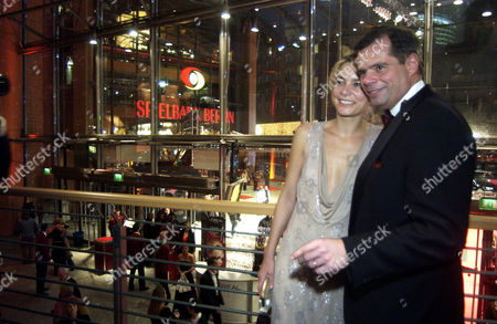 Tina Bordihn and Dr. Friedbert Pflueger at the opening party of the Berlinale Film Festival