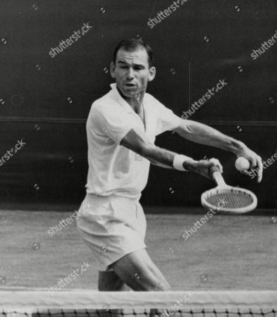 Tom Brown American Tennis Player In Action Against Tony Pickard At Wimbledon. Box 655 314121541 A.jpg.