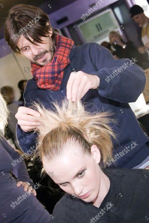 Hair stylist Guido Palau at the Y-3 show