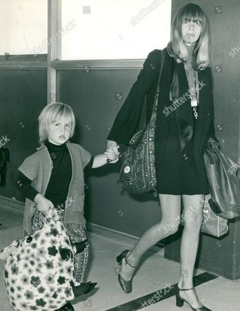 Actress Linda Lawrence And Son Julian Brian Son Of Brian Jones Of The Rolling Stones Pop Group. Box 660 113011630 A.jpg.