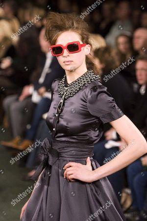 Elise Crombez at Luella Bartley fashion show