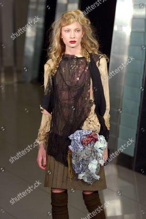 Model on catwalk