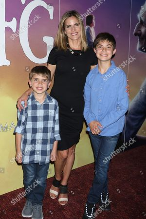 Natalie Morales with her sons Luke Rhodes and Josh Rhodes