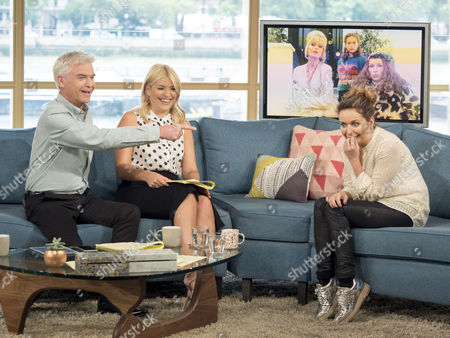 Phillip Schofield and Holly Willoughby with Julia Sawalha