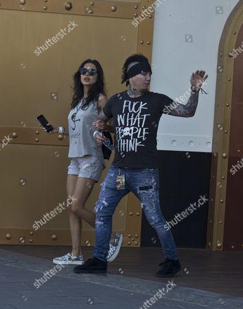 DJ Ashba with wife Naty Ashba
