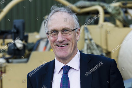 Stock Picture of Defence Minister Julian Brazier, Under- Secretary of State responsible for the Reserve Forces, visits the The Royal Scots Dragoon Guards of Exercise Wessex Storm to view the Army's state-of-the-art JACKAL armoured reconnaissance vehicles.